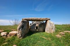 Thracian dolmen near Edirne, Turkey. Ancient Thracian Dolmen stone-built tomb near Edirne city, Turkey Stock Photography