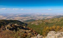 Thracian plain. View from high to Thracian Plain, Bulgaria Stock Photography