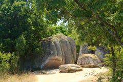 Thracian sanctuary Belgic Tash, Bulgaria Stock Photos