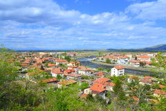 Thracian valley town panorama,Bulgaria Royalty Free Stock Photos