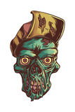 Thrash zombie. Zombie with hat on his head Stock Images