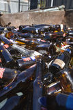 Thrashed Glass Bottles Stock Image