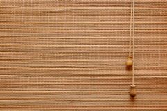 Thratch curtain. With ropes background Royalty Free Stock Photo