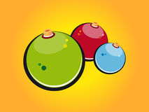 Thre christmas bauble. Three colored christmas bauble in orange Stock Photography