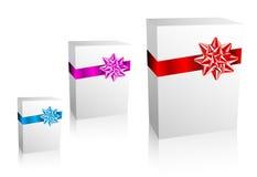 Thre Christmas / Valentine / Birthday Gift boxes Stock Photo