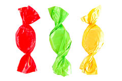 Thre colorful candies Royalty Free Stock Image