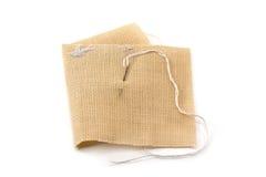 threa de pointeau de lin textile de tissus Photographie stock libre de droits