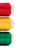 Thread. Hanks of multi-coloured threads for embroidery on a white background Royalty Free Stock Image