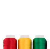 Thread. Hanks of multi-coloured threads for embroidery on a white background Royalty Free Stock Photo