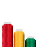 Thread. Hanks of multi-coloured threads for embroidery on a white background Stock Photo