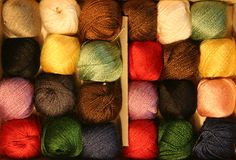 Thread. Many threads in different colors with no background Royalty Free Stock Image