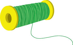 Thread. Illustration of thread on a white background Royalty Free Stock Photography