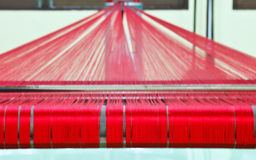 Thread. Loom for weaving silk in Thailand Stock Images