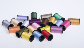 Thread. Coloured.Thfead isolated on white Royalty Free Stock Photography