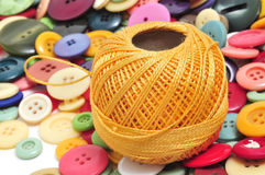 Free Thread And Buttons Royalty Free Stock Image - 18501446