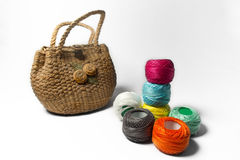 Thread and bag Royalty Free Stock Images