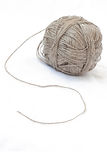 Thread ball. Isolated grey hand made thread ball Stock Photo