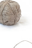 Thread ball. Isolated grey hand made thread ball Royalty Free Stock Image