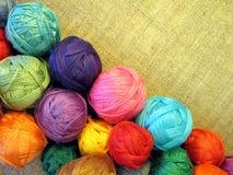 Thread balls Stock Photo