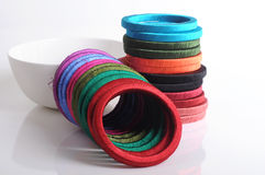 Thread bangles Stock Images