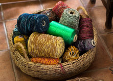 Thread Basket Stock Photo