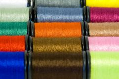 Thread on bobbins Royalty Free Stock Images