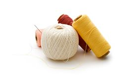 Thread bobbins Stock Images