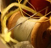 Thread bobbins Royalty Free Stock Image