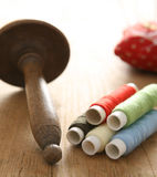 Thread on bobbins for sewing Royalty Free Stock Image