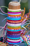 Thread bracelets Stock Image