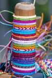 Thread bracelets Stock Image