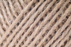 Thread in clew close up picture Royalty Free Stock Photo