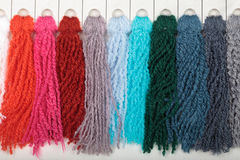 Thread color samples Royalty Free Stock Image