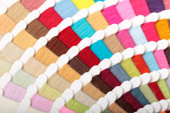 Thread color swatches Royalty Free Stock Images
