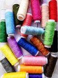 Colorful threads. stock photos