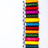 Thread. Colorful thread in the line Royalty Free Stock Photo