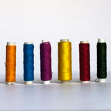 Thread. Colorful thread in the line Stock Photography
