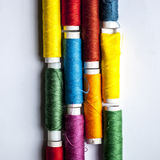 Thread. Colorful threads in funny lines Stock Images