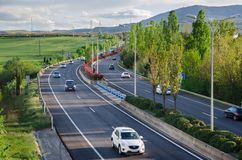 Highway road car traffic stock photo