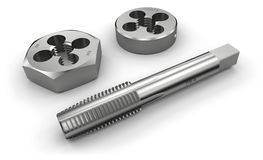 Thread cutting tools (tap and die) Stock Photography