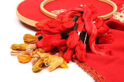 Thread for embroidery 1 Stock Photos