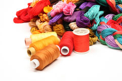 Thread for embroidery 3 Royalty Free Stock Photo