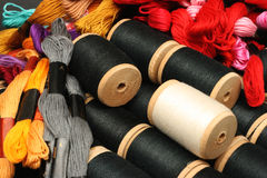 Thread for embroidery 4 Royalty Free Stock Photo