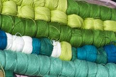 Thread, Green, Textile, Material stock photo