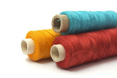 Thread isolated on white background stock images