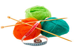 Thread for knitting Royalty Free Stock Images