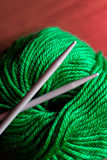 Thread and knitting needle Stock Photography