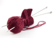 Thread and knitting needles Stock Image