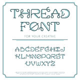 Thread line font. Stock Photography