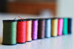 Thread in a line Royalty Free Stock Image